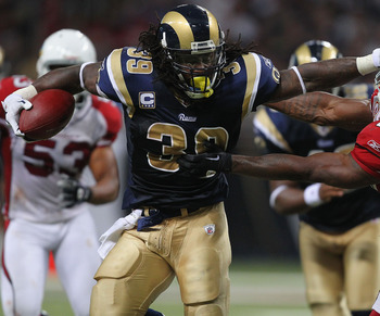 Arm tackles never work, especially against a back like Steven Jackson.