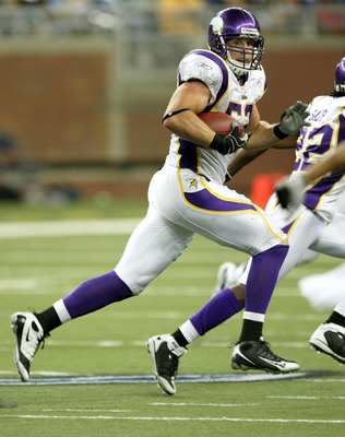 In 2009 Chad Greenway led the Vikings defense with six take-aways.
