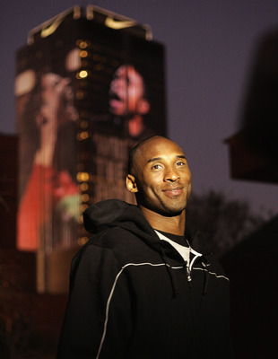 JOHANNESBURG, SOUTH AFRICA - JUNE 27:  Basketball player Kobe Bryant visits the Life Centre during the 2010 FIFA World Cup South Africa on June 27, 2010 in Johannesburg, South Africa.  (Photo by Dominic Barnardt/Getty Images for Nike)