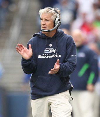 Seahawks head coach Pete Carrol