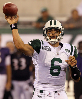 Jets quarterback Mark Sanchez