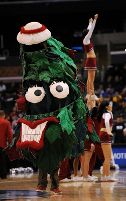 LOS ANGELES, CA - MARCH 12:  The Stanford Cardinal Tree performs on the court during the game against the Washington Huskies in the Pacific Life Pac-10 Men's Basketball Tournament at the Staples Center on March 12, 2009 in Los Angeles, California.  (Photo