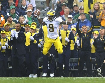 Martavious Odoms Celebrates A Big Gain To The One Yard Line vs ND