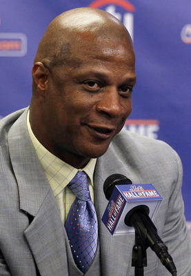 NEW YORK - JULY 31:  Former player Darryl Strawberry speaks during a press conference for his induction into the New York Mets Hall of Fame prior to the game against the Arizona Diamondbacks on July 31, 2010 at Citi Field in the Flushing neighborhood of t