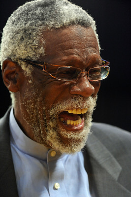 LOS ANGELES, CA - JUNE 15:  Former NBA player Bill Russell stands on the court before Game Six of the 2010 NBA Finals at Staples Center between the Los Angeles Lakers and the Boston Celtics on June 15, 2010 in Los Angeles, California.  NOTE TO USER: User