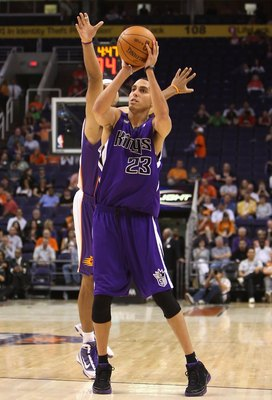 PHOENIX - OCTOBER 20:  Kevin Martin #23 of the Sacramento Kings puts up a shot against the Phoenix Suns during the NBA preseason game at US Airways Center on October 20, 2009 in Phoenix, Arizona. The Suns defeated the Kings 143-127.  NOTE TO USER: User ex