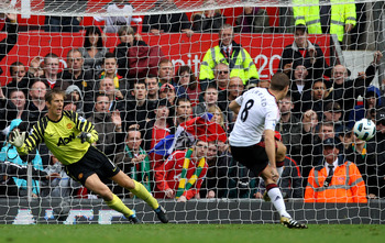 Gerrard scored his first of the afternoon from the penalty spot