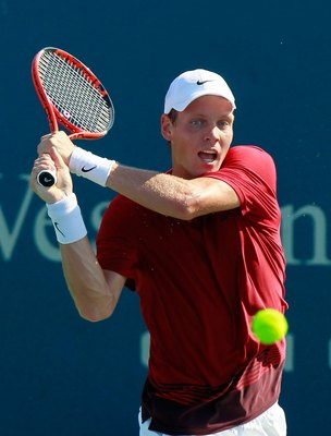 CINCINNATI - AUGUST 19:  Tomas Berdych of the Czech Republic during Day 4 of the Western & Southern Financial Group Masters at the Lindner Family Tennis Center on August 19, 2010 in Cincinnati, Ohio.  (Photo by Kevin C. Cox/Getty Images)