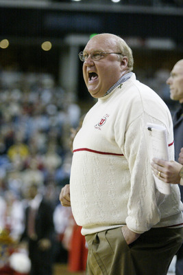 14 Mar 2002:  Head coach Rick Majerus of Utah observes the game against Indiana during the first round of the NCAA Basketball Championship at Arco Arena in Sacramento, California. Indiana defeated Utah 75-56. DIGITAL IMAGE Mandatory Credit: Jed Jacobsohn/