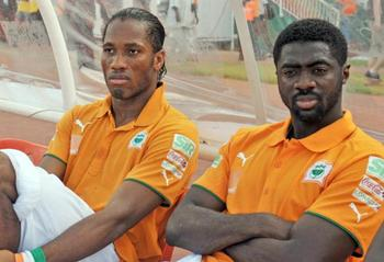 Drogba and Kolo Toure
