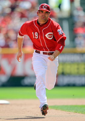 CINCINNATI - SEPTEMBER 12:  Joey Votto #19 of  the Cincinnati Reds runs to third base in the fourth inning during the game against the Pittsburgh Pirates at Great American Ballpark on September 12, 2010 in Cincinnati, Ohio.  (Photo by Andy Lyons/Getty Ima