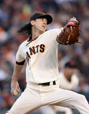 SAN FRANCISCO - JULY 15:  Tim Lincecum #55 of the San Francisco Giants pitches against the New York Mets in the second inning at AT&T Park on July 15, 2010 in San Francisco, California.  (Photo by Ezra Shaw/Getty Images)