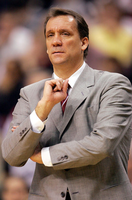 PHILADELPHIA - DECEMBER 8:  Head coach Flip Saunders of the Minnesota Timberwolves looks on during the first half of the game against the Philadelphia 76ers at the Wachovia Center on December 8, 2004 in Philadelphia, Pennsylvania.  NOTE TO USER: User expr