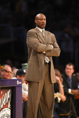 LOS ANGELES, CA - NOVEMBER 08:  Head coach Byron Scott of the New Orleans Hornets looks on during the game with the Los Angeles Lakers on November 8, 2009 at Staples Center in Los Angeles, California. The Lakers won 104-88.  NOTE TO USER: User expressly a