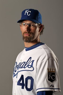 SURPRISE, AZ - FEBRUARY 26:  Kyle Farnsworth of the Kansas City Royals poses during photo media day at the Royals spring training complex on February 26, 2010 in Surprise, Arizona.  (Photo by Ezra Shaw/Getty Images)