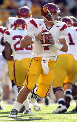 MINNEAPOLIS - SEPTEMBER 18:  Quarterback Matt Barkley #7 of the USC Trojans in action during the game against the Minnesota Golden Gophers on September 18, 2010 at TCF Bank Stadium in Minneapolis, Minnesota.  (Photo by Jamie Squire/Getty Images)