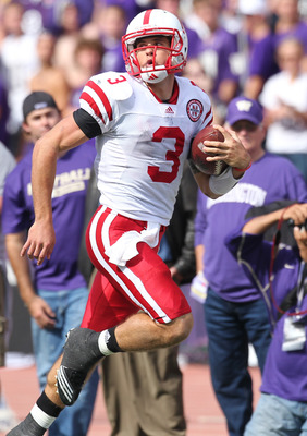 SEATTLE - SEPTEMBER 18: Quarterback Taylor Martinez #3 of the Nebraska Cornhuskers rushes for an 80 yard touchdown run in the third quarter against the Washington Huskies on September 18, 2010 at Husky Stadium in Seattle, Washington. The Cornhuskers defea