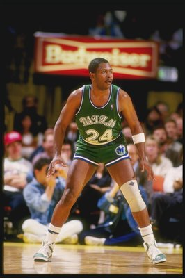 Forward Mark Aguirre of the Dallas Mavericks in action.