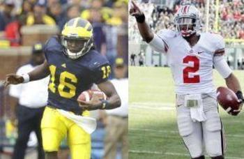 Michigan's Denard Robinson leads the conference in rushing, while Ohio State's Terrelle Pryor is the leading rusher for the conference's top team