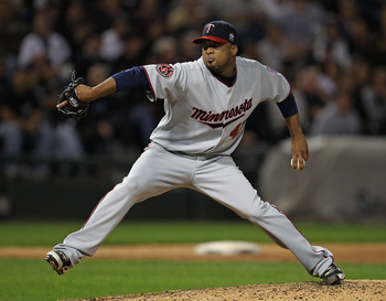 CHICAGO - SEPTEMBER 14: Starting pitcher Francisco Liriano #47 of the Minnesota Twins delivers the ball against the Chicago White Sox at U.S. Cellular Field on September 14, 2010 in Chicago, Illinois. (Photo by Jonathan Daniel/Getty Images)