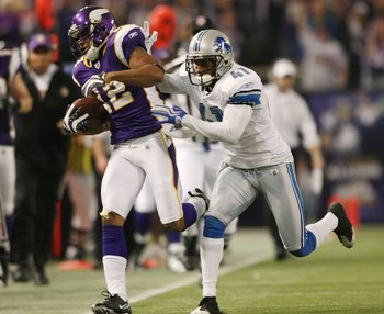 Percy Harvin and the Vikings must get a win against the Detroit Lions.