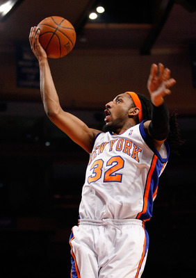 NEW YORK - DECEMBER 06:  Renaldo Balkman #32 of the New York Knicks reacts after a foul call that favored the Washington Wizards on December 06, 2006 at Madison Square Garden in New York City. NOTE TO USER: User expressly acknowledges and agrees that, by