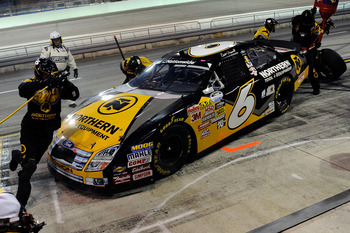 HOMESTEAD, FL - NOVEMBER 21:  Erik Darnell, driver of the #6 Northern Tool + Equipment Ford, pits during the NASCAR Nationwide Series Ford 300 at Homestead-Miami Speedway on November 21, 2009 in Homestead, Florida.  (Photo by John Harrelson/Getty Images f