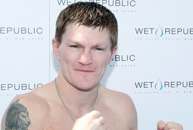 LAS VEGAS - MAY 03:  Boxer Ricky Hatton of England hosts an event at the Wet Republic pool at the MGM Grand Hotel/Casino May 3, 2009 in Las Vegas, Nevada. Hatton was knocked out in the second round by Manny Pacquiao of the Philippines in their junior welt