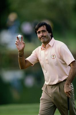 Spanish golfer Seve Ballesteros during a Ryder Cup match at The Belfry, Warwickshire, 23rd September 1989. The competition ended in a draw with the European team retaining the Cup. (Photo by Billy Stickland/Getty Images)