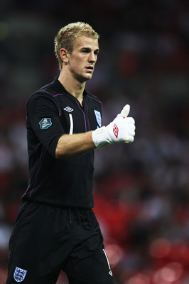 LONDON, ENGLAND - SEPTEMBER 03:  Joe Hart the England goalkeeper is seen during the UEFA EURO 2012 Group G Qualifying match between England and Bulgaria at Wembley Stadium on September 3, 2010 in London, England.  (Photo by Bryn Lennon/Getty Images)