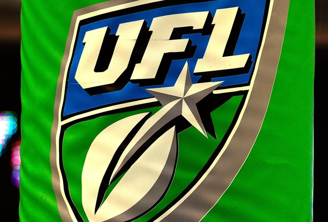 ORLANDO, FL - OCTOBER 22:  UFL signage during the game between the California Redwoods and the Florida Tuskers at the Florida Citrus Bowl on October 22, 2009 in Orlando, Florida.  (Photo by Sam Greenwood/Getty Images)