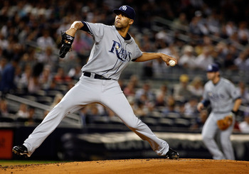 NEW YORK - SEPTEMBER 23:  David Price #14 of the Tampa Bay Rays delivers a pitch in the first inning against the New York Yankees on September 23, 2010 at Yankee Stadium in the Bronx borough of New York City.  (Photo by Mike Stobe/Getty Images)