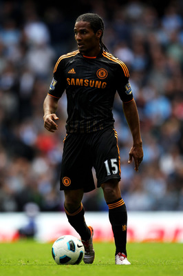 MANCHESTER, ENGLAND - SEPTEMBER 25:   Florent Malouda of Chelsea in action during the Barclays Premier League match between Manchester City and Chelsea at the City of Manchester Stadium on September 25, 2010 in Manchester, England.  (Photo by Alex Livesey