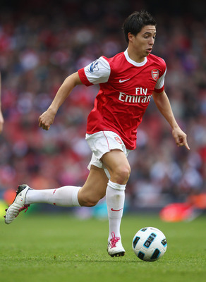 LONDON, ENGLAND - SEPTEMBER 25:  Samir Nasri of Arsenal in action during the Barclays Premier League match between Arsenal and West Bromwich Albion at the Emirates Stadium on September 25, 2010 in London, England.  (Photo by Julian Finney/Getty Images)