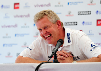 Colin Montgomerie is all smiles with his talented European Team
