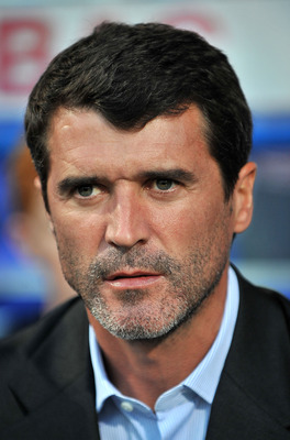 IPSWICH, ENGLAND - AUGUST 18:  Ipswich Town manager Roy Keane looks on during the Coca-Cola Championship match between Ipswich Town and Crystal Palace at Portman Road on August 18, 2009 in Ipswich, England.  (Photo by Christopher Lee/Getty Images)