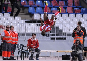 Uche was head over heels with delight at his brace