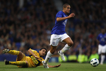 Jack Rodwell...only 19 and already leaving players in the dust
