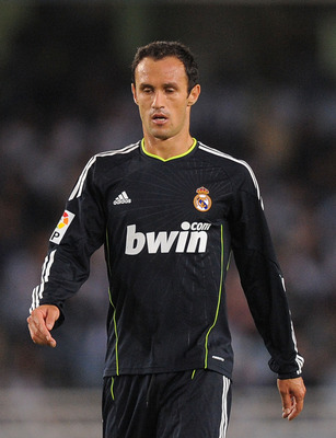 SAN SEBASTIAN, SPAIN - SEPTEMBER 18: Ricardo Carvalho of Real Madrid during the La Liga match between Real Sociedad and Real Madrid at Estadio Anoeta on September 18, 2010 in San Sebastian, Spain.  (Photo by Denis Doyle/Getty Images)