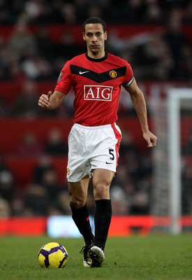 MANCHESTER, ENGLAND - JANUARY 23:  Rio Ferdinand of Manchester United in action during the Barclays Premier League match between Manchester United and Hull City at Old Trafford on January 23, 2010 in Manchester, England.  (Photo by Julian Finney/Getty Ima