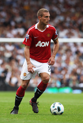 LONDON, ENGLAND - AUGUST 22:  Nemanja Vidic of Manchester United in action during the Barclays Premier League match between Fulham and Manchester United at Craven Cottage on August 22, 2010 in London, England.  (Photo by Phil Cole/Getty Images)