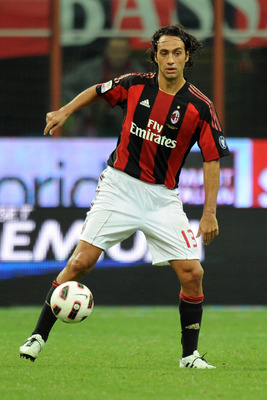 MILAN, ITALY - SEPTEMBER 26: Alessandro Nesta of Milan in action during the Serie A match between Milan and Genoa at Stadio Giuseppe Meazza on September 26, 2010 in Milan, Italy.  (Photo by Tullio M. Puglia/Getty Images)