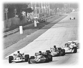 Five cars finish win a second, Monza 1971