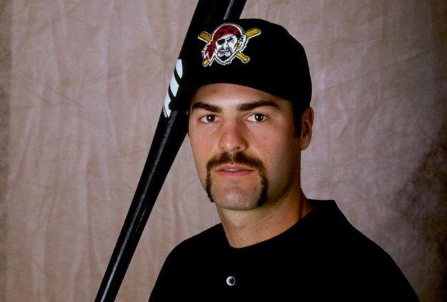 28 Feb 1999:  Outfielder Chad Hermansen #3 of the Pittsburgh Pirates poses for a studio portrait on Photo Day during Spring Training at the McKechnie Field in Bradenton, Florida. Mandatory Credit: Vincent Laforet  /Allsport