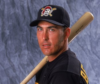 27 Feb 2000: Infielder Mike Benjamin #6 of the Pittsburgh Pirates poses for a studio portrait on Photo Day during Spring Training in Bradenton, Florida..