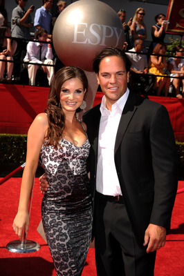 LOS ANGELES, CA - JULY 14: Former New York Mets catcher Mike Piazza and wife Alicia Rickter arrive at the 2010 ESPY Awards at Nokia Theatre L.A. Live on July 14, 2010 in Los Angeles, California.  (Photo by Jason Merritt/Getty Images)