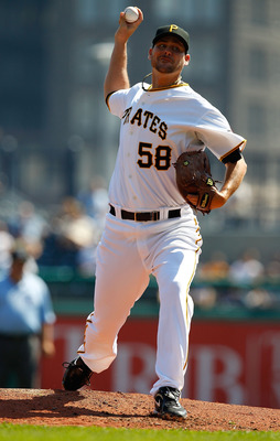PITTSBURGH - SEPTEMBER 23:  Steven Jackson #58 of the Pittsburgh Pirates pitches against the St Louis Cardinals during the game on September 23, 2010 at PNC Park in Pittsburgh, Pennsylvania.  (Photo by Jared Wickerham/Getty Images)