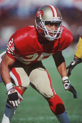 21 Oct 1990: Defensive Back Eric Davis of the San Francisco 49ers during a 27-7 win over the Pittsburgh Steelers at Candlestick Park in San Francisco, California.