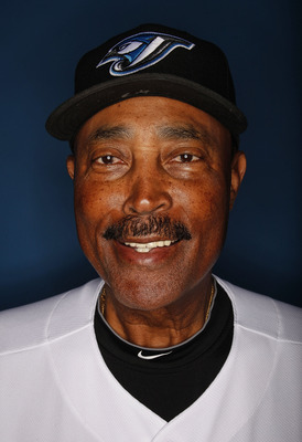DUNEDIN, FL - MARCH 01:  Manager Cito Gaston #43  of the Toronto Blue Jays poses for photos during media day  on March 1, 2010 in Dunedin, Florida.  (Photo by Marc Serota/Getty Images)