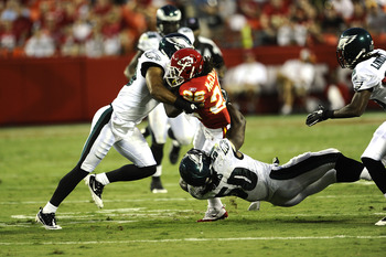 Nate Allen makes a tackle against the KC Chiefs
